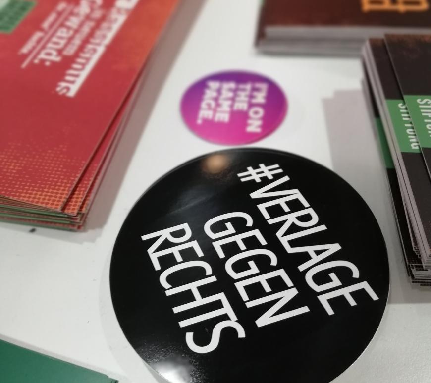 Verlagegegenrechts auf der Buchmesse